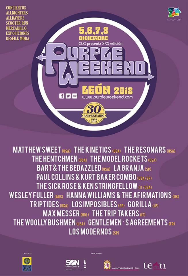 Cartel del Purple Weekend 2018