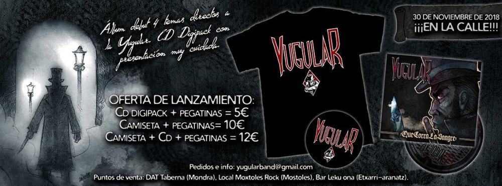 Debut de Yugular: Que corra la sangre, 4 canciones en formato cd digipack