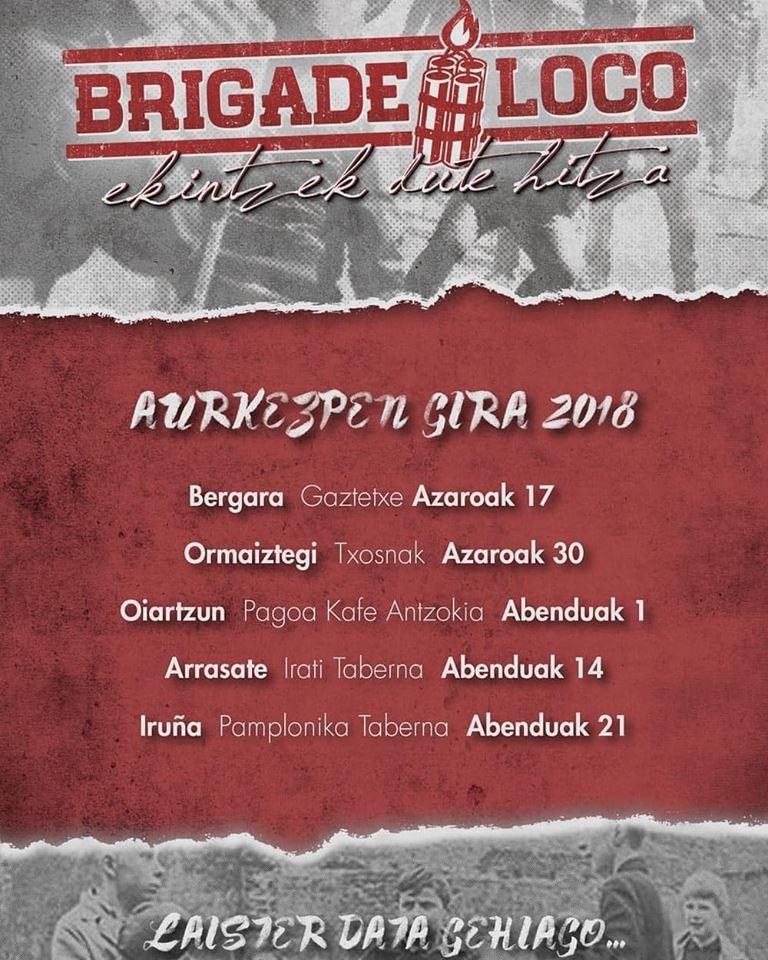 Próximos conciertos de Brigade Loco