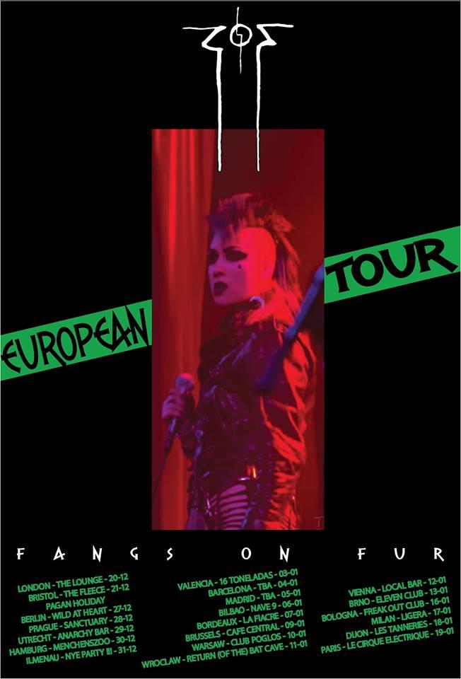 Conciertos de Fangs on Four en Valencia, Barcelona, Madrid y Bilbao en enero de 2019