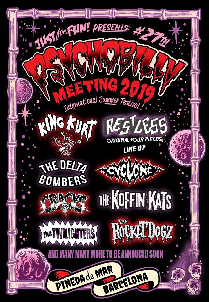 Confirmados hasta el momento para el Psychobilly Meeting 2019 de Pineda del Mar (Barcelona)