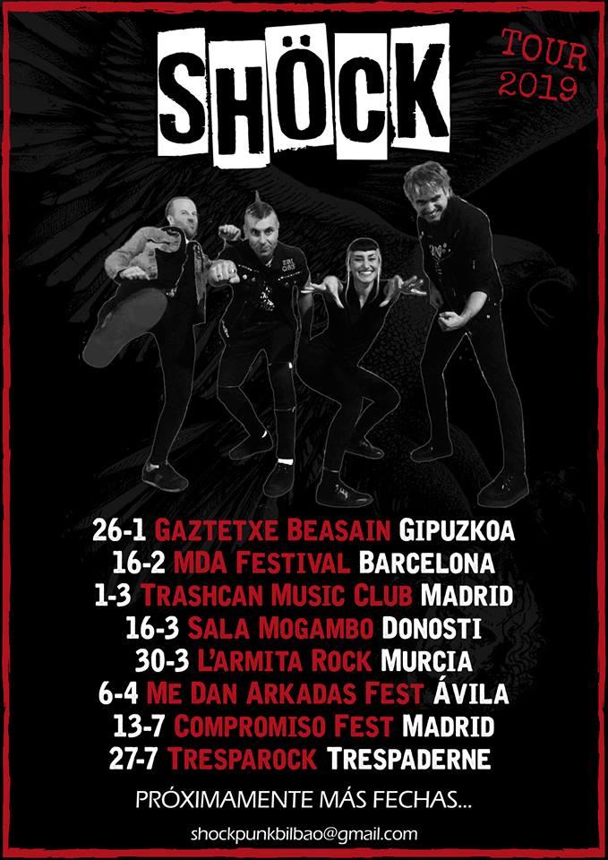 Próximos conciertos para el grupo bilbaíno Shöck