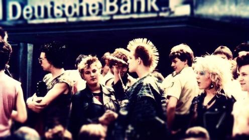 Punks concentrados en Elberfeld durante 1982