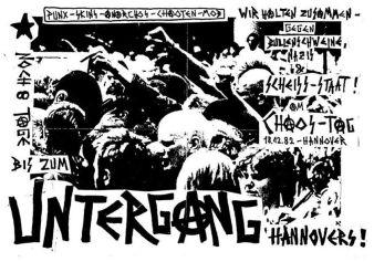 Un flyer llamando a acudir al Chaos-Tag de 1982