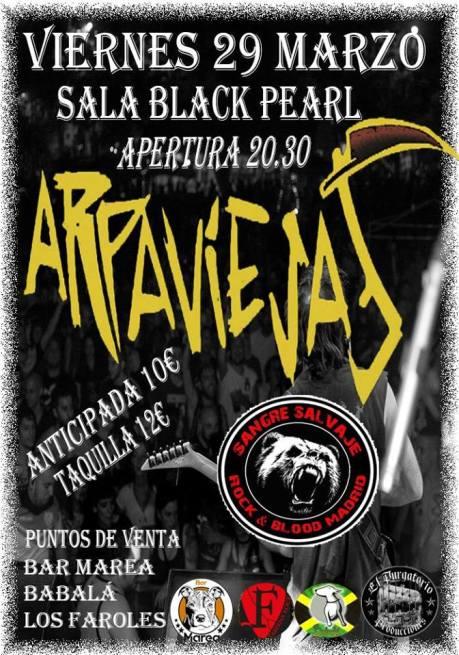 Arpaviejas + Sangre Salvaje @ Valladolid