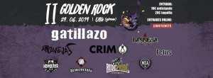 Cartel del Golden Rock 2019 con Gatillazo, CRIM Arpaviejas, Rude Pride, The Demencials, MDA, Fetus, Komodor y Barrena