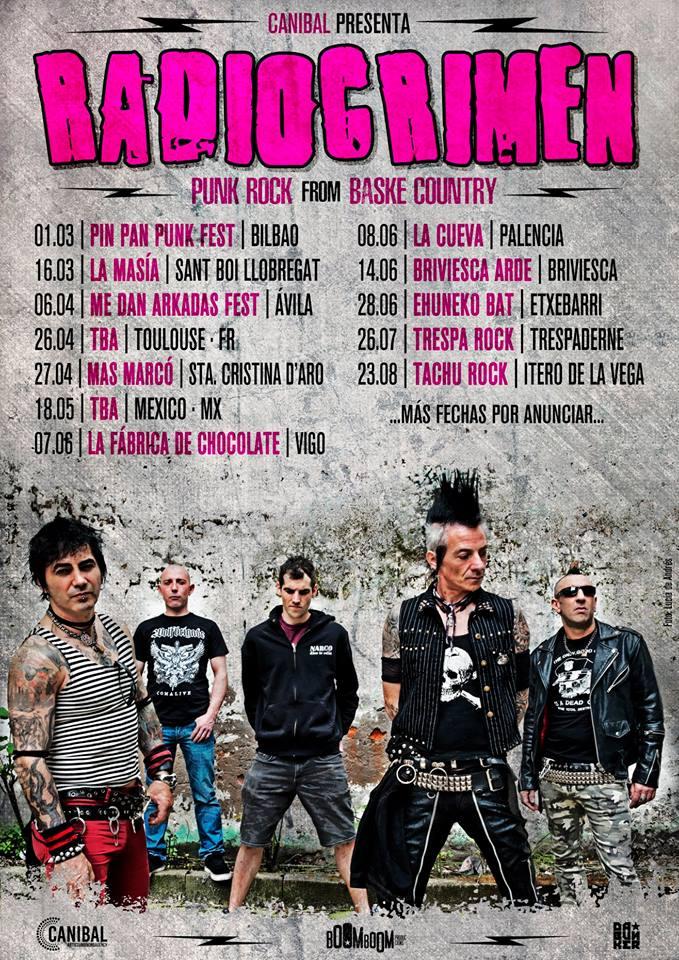 Próximos conciertos de Radiocrimen en 2019