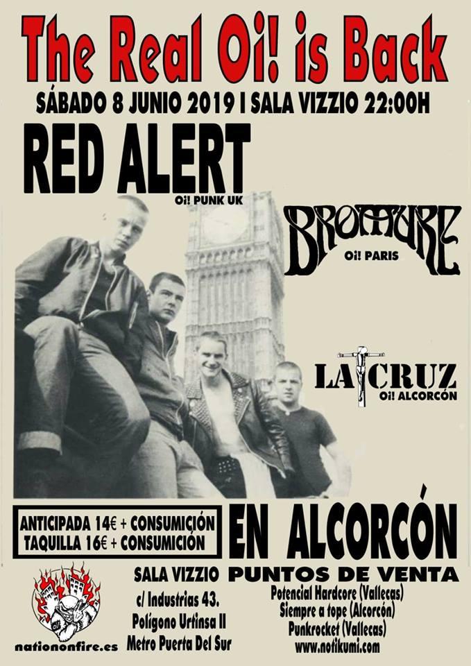 Red Alert + Bromure + La Cruz @ Sala Vizzio @ Alcorcón, Mardrid, el sábado 8 de junio de 2019