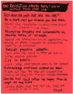 Flyer por Kathleen Hanna de Bikini Kill. No se puede tener un movimiento político sin algunos buenos manifiestos. Éste es de Kathleen Hanna, de Bikini Kill.