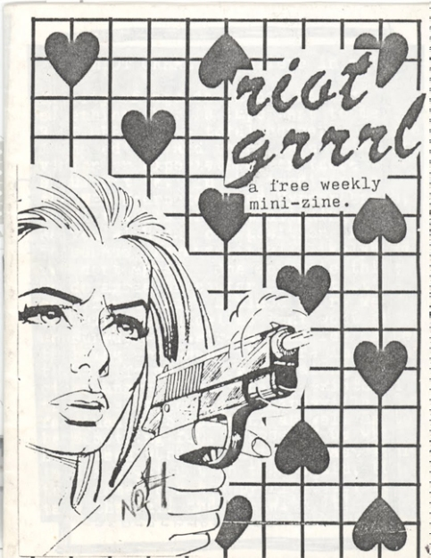 Riot Grrrl no. 1, Molly Neuman y Allison Wolfe, julio de 1991.