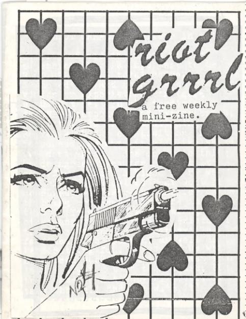 Riot Grrrl no. 1, Molly Neuman y Allison Wolfe, julio de 1991.
