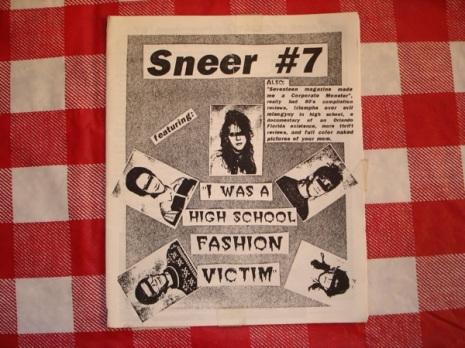 Portada del número #7 del fanzine Sneer