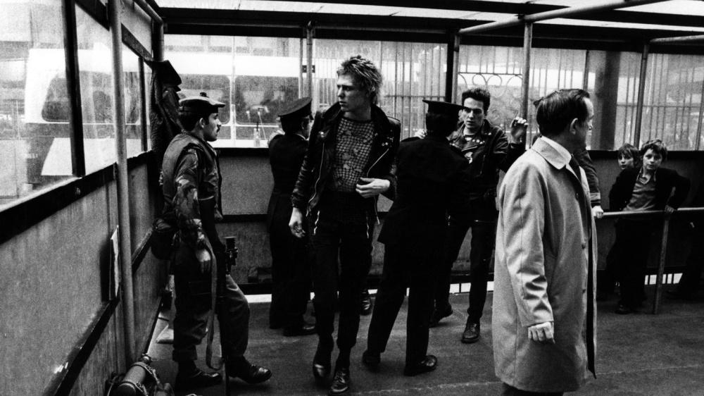 Imagen de la visita de The Clash a Belfast en otoño de 1977. Su concierto fue suspendido