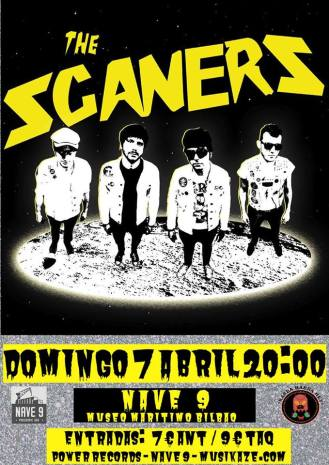 Cartel del concierto de The Scaners @ Nave 9 (Bilbao)