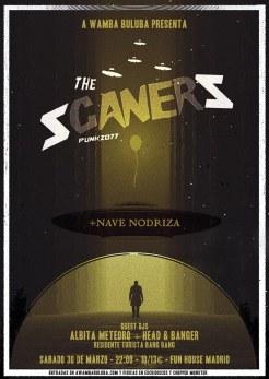 Cartel del concierto de The Scaners y Nave Nodriza @ Fun House (Madrid)