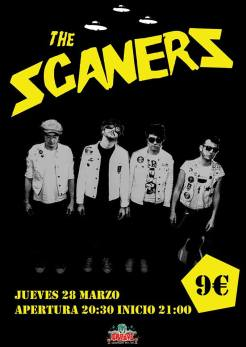 Cartel del concierto de The Scaners @ Groove Bar (Tarragona)