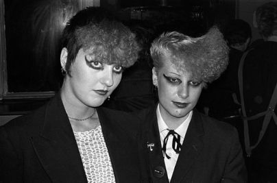 Punk Girls at the Vortex Club, 1977. Photo © Derek Ridgers.