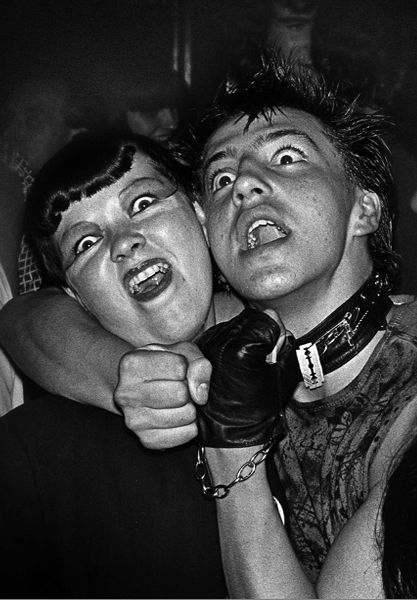Punks at the Vortex Club, London 1977. Pic by Derek Ridgers.