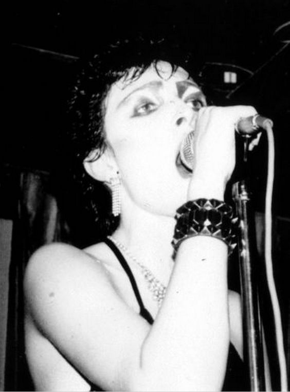 Siouxsie Sioux - Siouxsie & the Banshees - Ca. 1977 at the Vortex Club, Wardour Street, London (Photo by Mick Mercer)