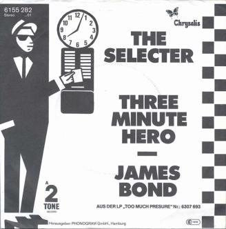 "Portada edición alemana ""Three Minute Hero"" / ""James Bond"" de The Selecter"