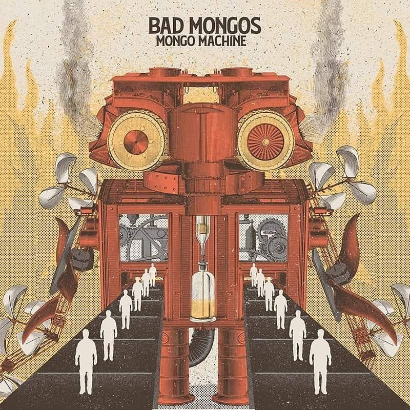 Portada de 'Mongo Machine', disco de Bad Mongos publicado por Bcore Disc en 2019