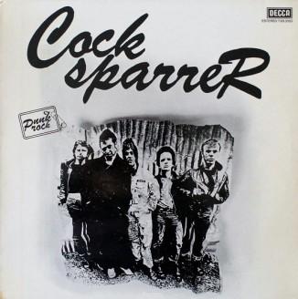 Portada de la edición en España del primer LP de Cock Sparrer (Decca, 1978)