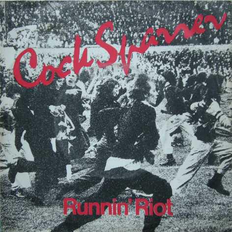 """Portada del 7"""" Runnin' Riot de Cock Sparrer (Decca, 1977)"""