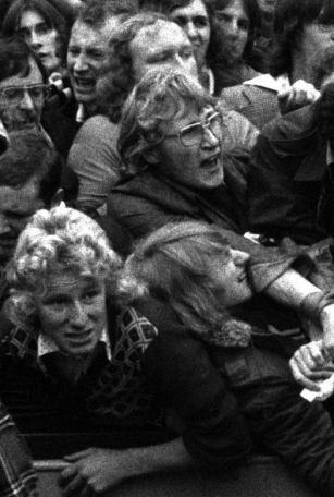West Ham United vs Manchester United, Upton Park, Londres, octubre de 1975