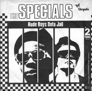 Contraportada edición alemana Rat Race de The Specials