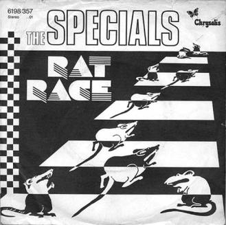 Portada edición alemana Rat Race de The Specials