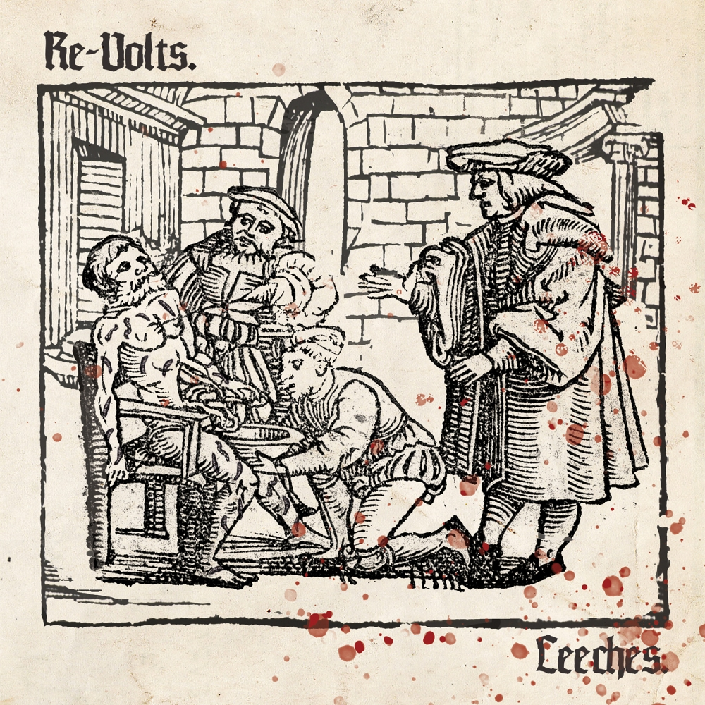 "Portada del 7"" 'Leeches' de The Re-Volts, editado por Pirates Press en julio de 2019"