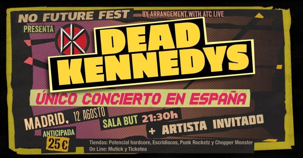 Concierto Dead Kennedys @ Sala But, Madrid, el lunes 12 de agosto de 2019