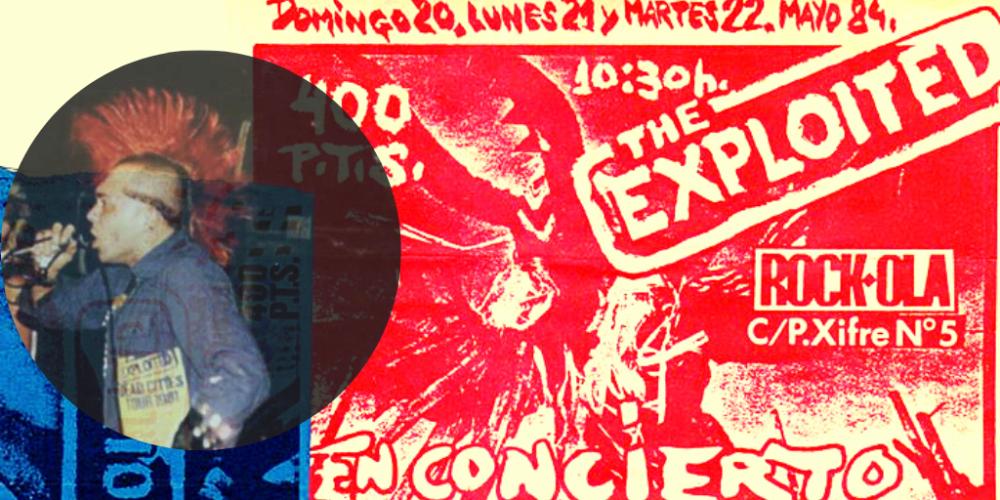 Artículo sobre los conciertos de The Exploited en Rock-Ola y su posterior detención en Madrid en mayo de 1984