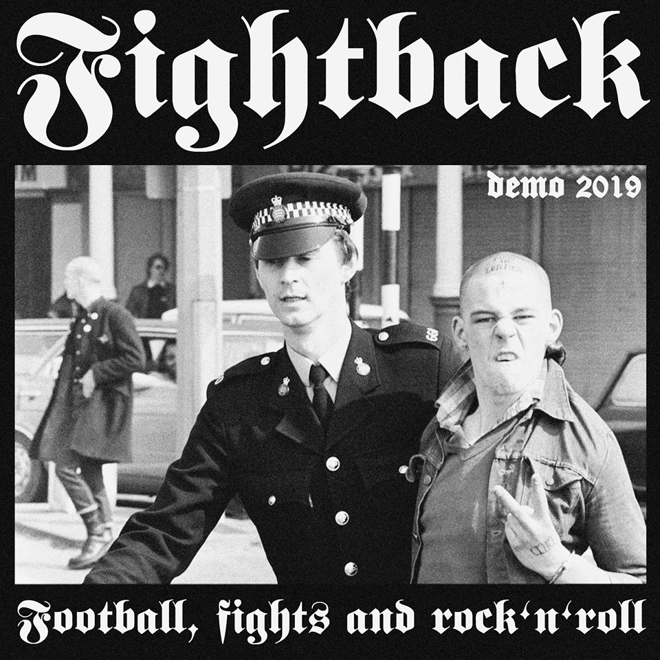 Portada de 'Football, fights and rock'n'roll (Demo 2019)' de Fightback (Barcelona Oi!)