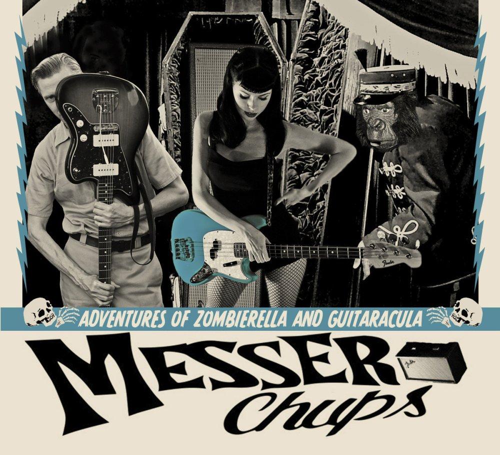 Portada de 'the Adventures of Zombierella and Guitaracula' de Messer Chups