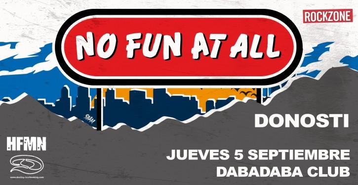 No Fun At All @ Dabadaba Club, Donosti, el jueves 5 de septiembre de 2019