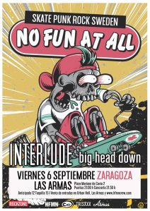 No Fun At All @ Las Armas, Zaragoza, el viernes 6 de septiembre de 2019