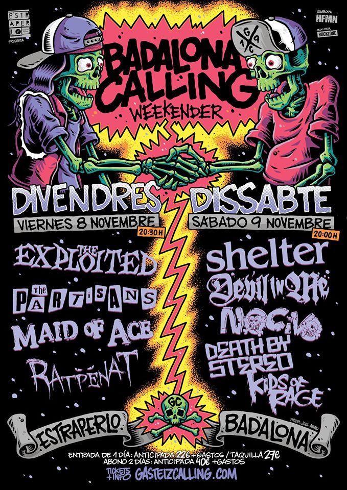 Badalona Calling Weekender: 8 y 9 de noviembre de 2019 @ Estraperlo Club