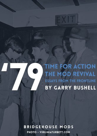 'Time For Action - the story of the mod revival' de Garry Bushell, portada con Bridgehouse Mods