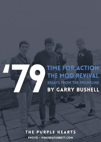 'Time For Action - the story of the mod revival' de Garry Bushell, portada de Purple Hearts