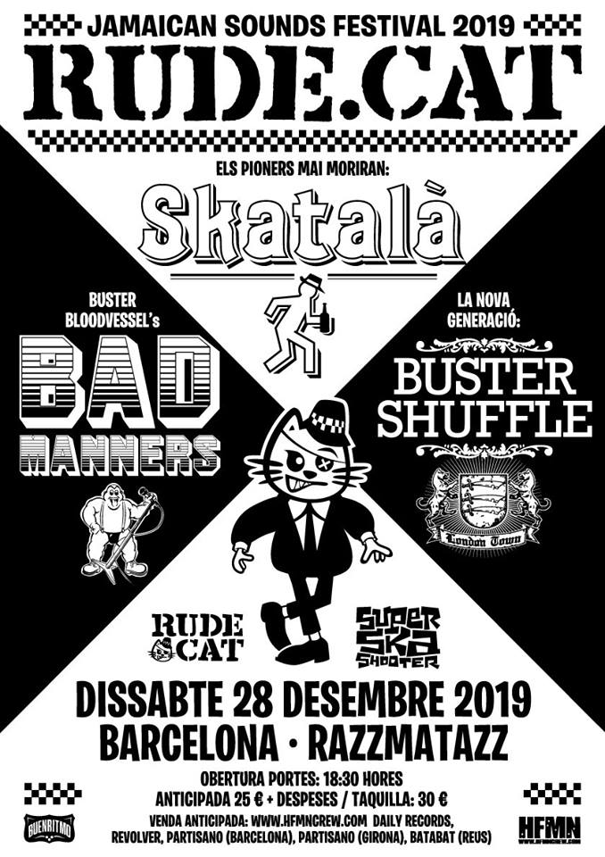 Festival Rude.Cat @ Razzmatazz, Barcelona, con Skatalà, Bad Manners y Buster Shuffle
