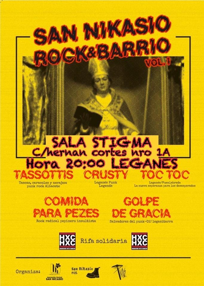 Cartel del San Nikasio Rock&Barrio Vol. I @ Leganés, el sábado 21 de septiembre de 2019