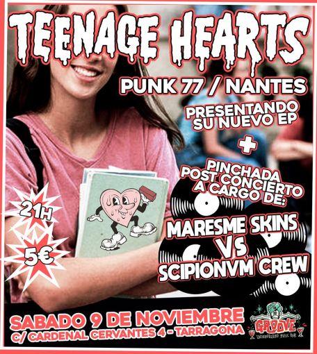 Concierto de Teenage Hearts @ Sala Groove de Tarragona el sábado 9 de noviembre de 2019