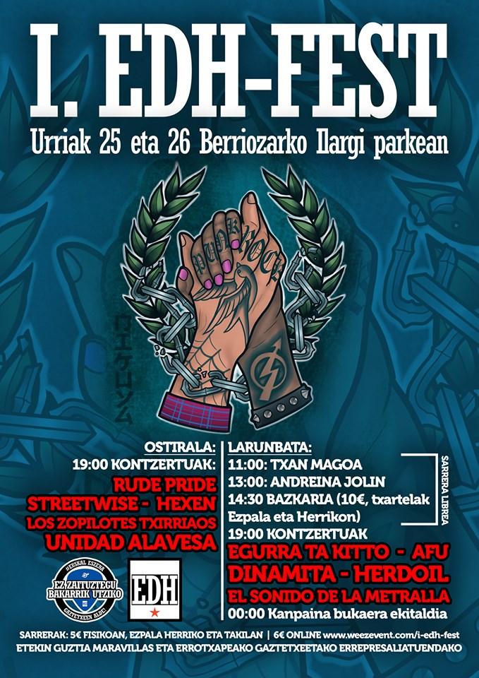 Cartel de I EDH Festival @Berriozar, Navarra, los días 25 y 26 de octubre de 2019
