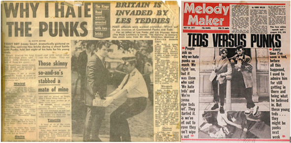 Teddy Boys vs Punks: Batalla generacional en Kings Road