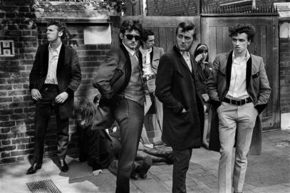 Grupo de Teds en 1977 en Londres