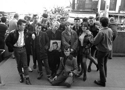 Grugpo de teds en 1979 en Londres