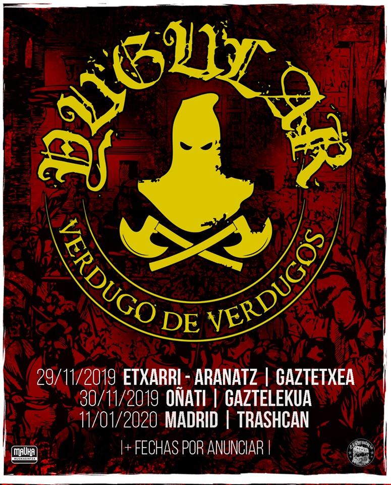 Próximos conciertos para Yugular: Extarri-Aranatz, Oñati y Madrid