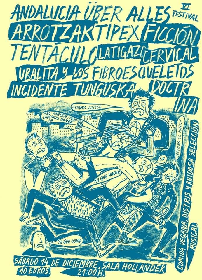 VI Festival Andalucía über Alles a celebrar el 14 de diciembre en la Sala Hollander de Sevilla