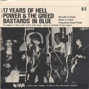 Contraportada del single '17 Years of Hell' de the Partisans, editado por No Future